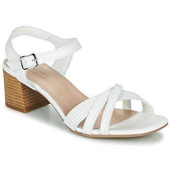 Schuhe Damen Sandalen / Sandaletten André MARJOLAINE Weiss