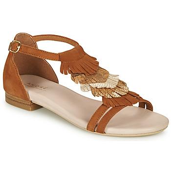 Schuhe Damen Sandalen / Sandaletten André BRIANA Camel