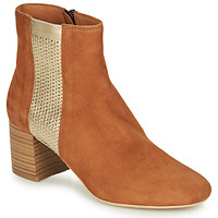 Schuhe Damen Boots André BINDY Camel