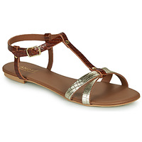 Schuhe Damen Sandalen / Sandaletten André RODHIE Camel