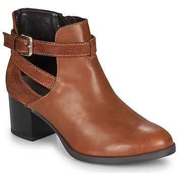 Schuhe Damen Low Boots André BETIANA Camel