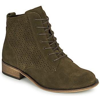 Schuhe Damen Boots André GODILLINE Kaki