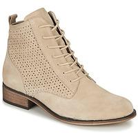 Schuhe Damen Boots André GODILLINE Beige