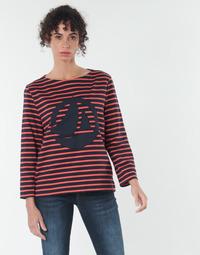 Kleidung Damen Tops / Blusen Petit Bateau  Rot / Marine