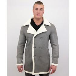 Kleidung Herren Mäntel Tony Backer Lammy Coat Shearling Jacke Lammfell Grau