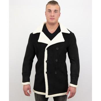Kleidung Herren Parkas Tony Backer Shearling Jacke Lammy Coat Jacke Schwarz
