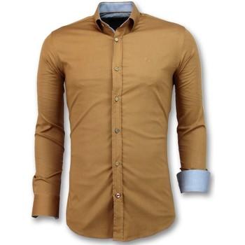 Kleidung Herren Langärmelige Hemden Tony Backer Slim Bluse Braun