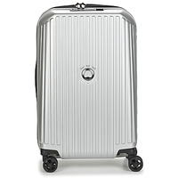 Taschen Hartschalenkoffer Delsey SECURITME ZIP 55 CM 4 DOUBLE WHEELS TROLLEY Silbern