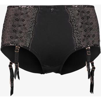 Unterwäsche Damen Miederslips Lascana Strapsgürtel mit hoher Taille Shorty Livia Flieder