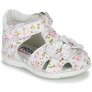 Schuhe Mädchen Sandalen / Sandaletten Primigi 5401300 Weiss / Rose