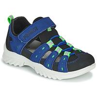 Schuhe Kinder Sportliche Sandalen Primigi 5371822 Blau / Schwarz