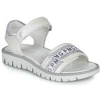 Schuhe Mädchen Sandalen / Sandaletten Primigi 5386700 Weiss / Silbern