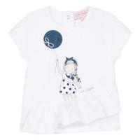 Kleidung Mädchen T-Shirts Lili Gaufrette NALIOS Weiss