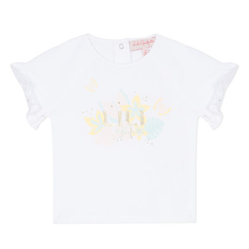 Kleidung Mädchen T-Shirts Lili Gaufrette NALIS Weiss