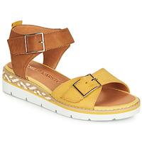 Schuhe Damen Sandalen / Sandaletten Karston KICHOU Gelb / Braun