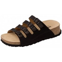 Schuhe Damen Pantoffel Weeger Keilpantolette 11460-24 schw.met