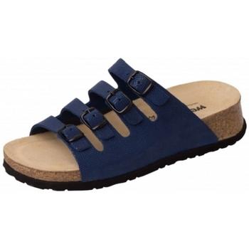 Schuhe Damen Pantoffel Weeger Keilpantolette 11460-31 royal gepr