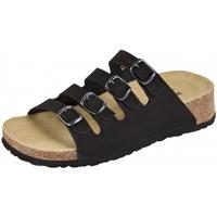 Schuhe Damen Pantoffel Weeger Keilpantolette 11460-20 schwarz