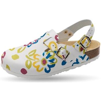 Schuhe Damen Pantoletten / Clogs Weeger Clog Art. 41610-15 weiss Mult
