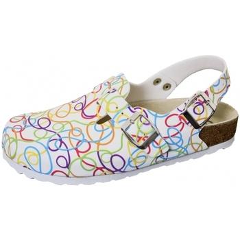 Schuhe Damen Pantoletten / Clogs Weeger Clog Art. 41610-16 weiß graffiti