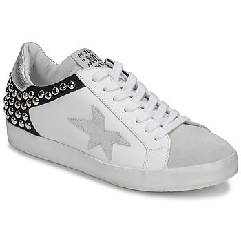 Schuhe Damen Sneaker Low Meline GELLABELLE Weiss / Schwarz
