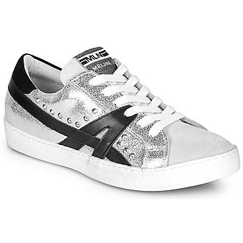 Schuhe Damen Sneaker Low Meline GELOBELO Silbern