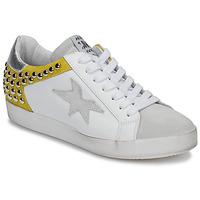 Schuhe Damen Sneaker Low Meline GELLABELLE Weiss / Senf