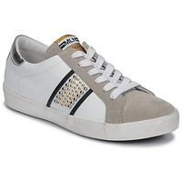 Schuhe Damen Sneaker Low Meline GARILOU Weiss / Beige