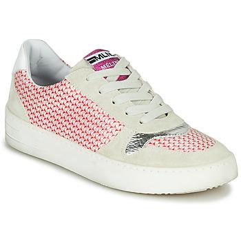 Schuhe Damen Sneaker Low Meline GUILI Beige / Rot