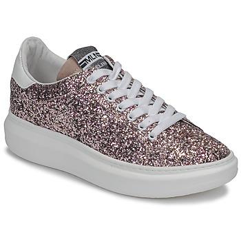 Schuhe Damen Sneaker Low Meline GEYSI Glitterfarbe / Rose