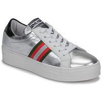 Schuhe Damen Sneaker Low Meline GETSET Silbern