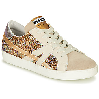 Schuhe Damen Sneaker Low Meline GALLI Gold
