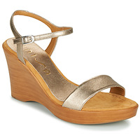 Schuhe Damen Sandalen / Sandaletten Unisa RITA Silbern