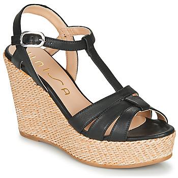 Schuhe Damen Sandalen / Sandaletten Unisa MACA Schwarz