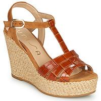 Schuhe Damen Sandalen / Sandaletten Unisa MACA Camel