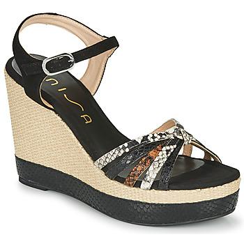 Schuhe Damen Sandalen / Sandaletten Unisa MIRELLA Schwarz