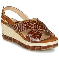 Schuhe Damen Sandalen / Sandaletten Unisa KASTRO Camel