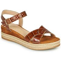 Schuhe Damen Sandalen / Sandaletten Unisa GRANADA Camel