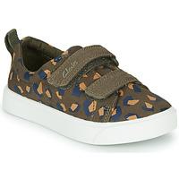 Schuhe Mädchen Sneaker Low Clarks CITY BRIGHT T Kaki