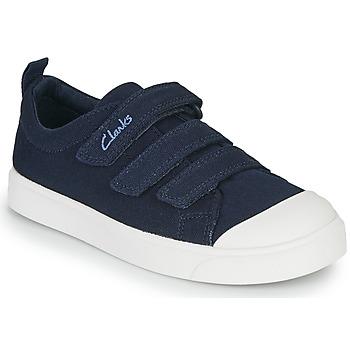 Schuhe Kinder Sneaker Low Clarks CITY VIBE K Marine