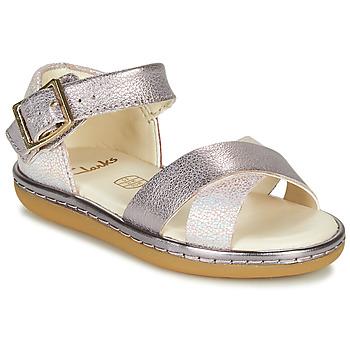 Schuhe Mädchen Sandalen / Sandaletten Clarks SKYLARK PURE T Silbern / Rose