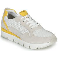 Schuhe Damen Sneaker Low Marco Tozzi 2-23754 Weiss / Gelb