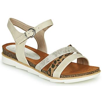 Schuhe Damen Sandalen / Sandaletten Marco Tozzi 2-28410 Beige