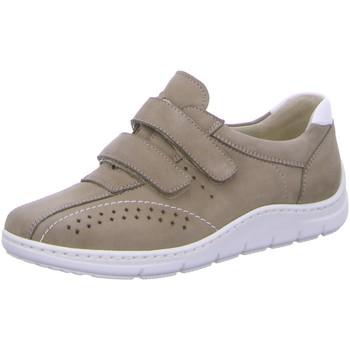 Schuhe Damen Sneaker Low Waldläufer Slipper Klettslipper 399301 beige