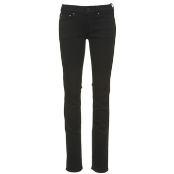 Kleidung Damen Straight Leg Jeans G-Star Raw ATTACC MID STRAIGHT Schwarz