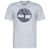Kleidung Herren T-Shirts Timberland SS Kennebec River Brand Tree Tee Grau