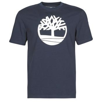 Kleidung Herren T-Shirts Timberland SS Kennebec River Brand Tree Tee Marine