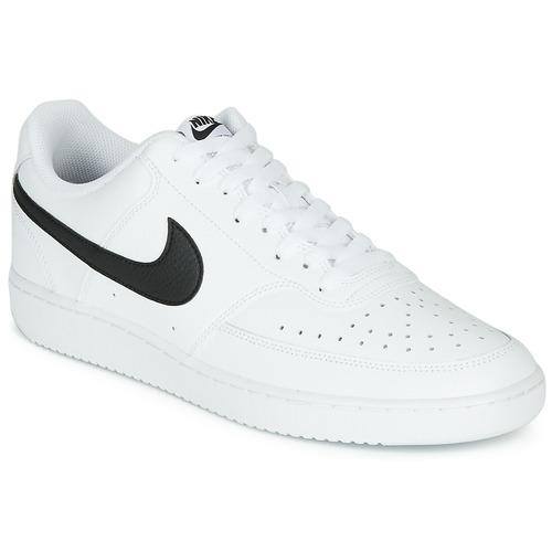 Schuhe Herren Sneaker Low Nike COURT VISION LOW Weiss / Schwarz