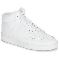 Schuhe Damen Sneaker Low Nike COURT VISION MID Weiss