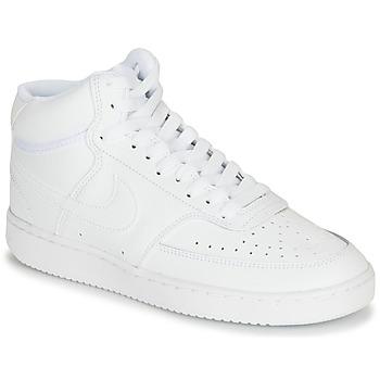 Schuhe Damen Sneaker High Nike COURT VISION MID Weiss